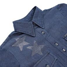 Camisete Jeans Feminina com Pedrarias Dock's 24669