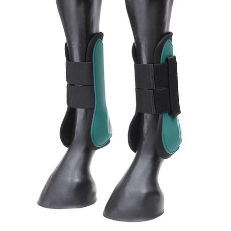 Caneleira Hípica Instep Verde com Velcro Instep 26941