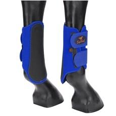 Caneleira para Cavalo Equitech em Neoprene Azul 15657