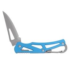 Canivete Azul com Lâmina de Aço Inox e Mosquetão Western 29387