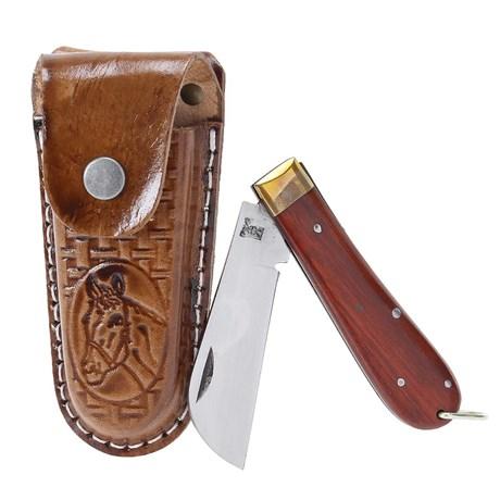 Canivete com Bainha de Couro Marrom Rodeo West 19807