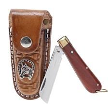 Canivete com Bainha de Couro Rodeo West 19826