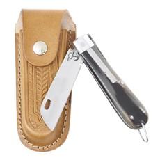 Canivete de Chifre com Lâmina em Aço Inox e Bainha em Couro Rodeo West 29582