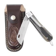 Canivete de Chifre com Lâmina em Aço Inox e Bainha Nossa Senhora Rodeo West 29590