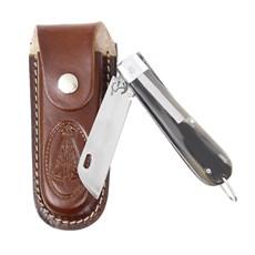 Canivete de Chifre com Lâmina em Aço Inox e Bainha Nossa Senhora Rodeo West 29592