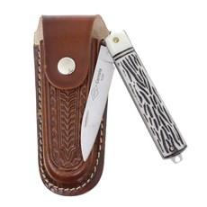 Canivete Dobrável com Lâmina Estreita e Bainha em Couro Corneta 29596