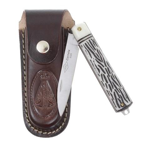 Canivete Dobrável com Lâmina Estreita e Bainha Nossa Senhora Corneta 29593