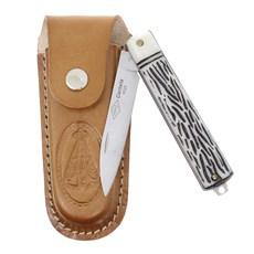 Canivete Dobrável com Lâmina Estreita e Bainha Nossa Senhora Corneta 29594