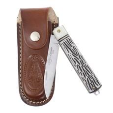 Canivete Dobrável com Lâmina Estreita e Bainha Nossa Senhora Corneta 29595