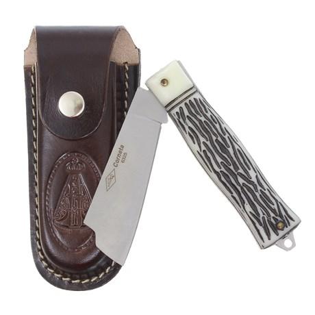 Canivete Dobrável com Lâmina Larga e Bainha Nossa Senhora Corneta 29599