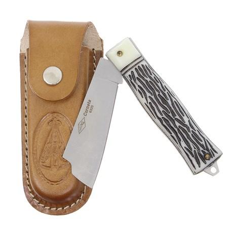 Canivete Dobrável com Lâmina Larga e Bainha Nossa Senhora Corneta 29600