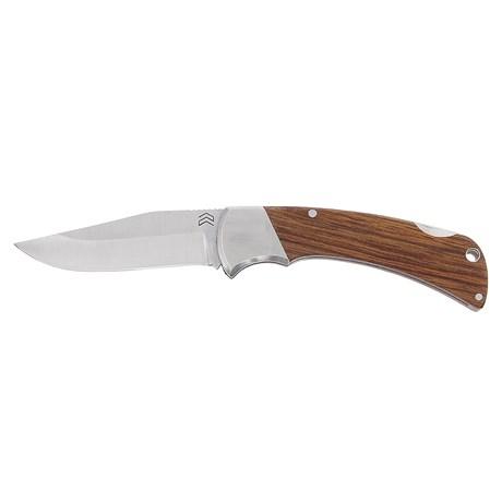 Canivete em Aço Inox com Cabo de Madeira e Presilha Cimo 30162