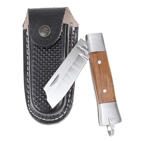 Canivete em Aço Inox com Lâmina Lisa Ponta Reta e Cabo de Madeira Cimo 27326