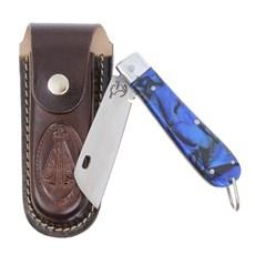 Canivete em Aço Inox e Cabo Azul com Bainha Nossa Senhora Rodeo West 29584