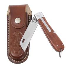 Canivete em Aço Inox e Cabo de Madeira com Bainha Nossa Senhora Rodeo West 29589