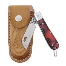 Canivete em Aço Inox e Cabo Vermelho com Bainha Nossa Senhora Rodeo West 29574