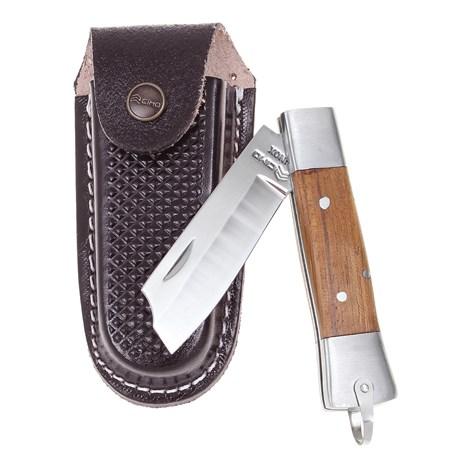 Canivete em Aço Inox Lâmina Lisa  com bainha Cimo 28098