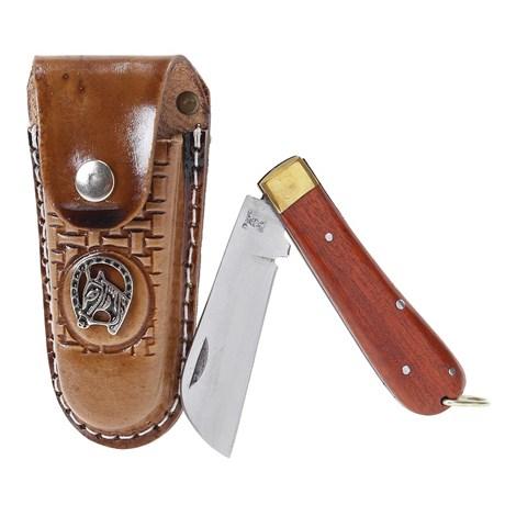 Canivete Grande com Bainha de Couro Rodeo West 19809