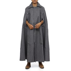 Capa de Chuva Boiadeiro Longa em Feltro 100% Lã Cinza Renner 30250