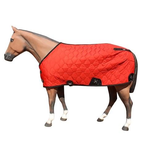 Capa para Cavalo Forrada Aberta no Peito Vermelha - M Reis 17764