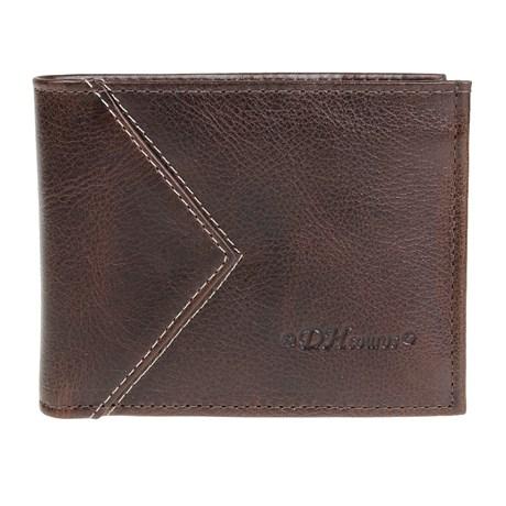 Carteira de Bolso com Porta Documentos Couro Marrom DH Couros 25612
