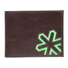 Carteira de Couro Masculina Detalhe Verde Tuff 27455