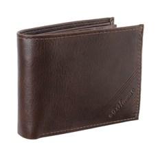 Carteira Masculina de Couro com Porta Moedas e Porta Cheques DH Couros 28614