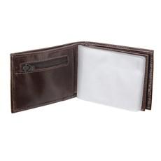 Carteira Masculina de Couro Marrom com Porta Moedas DH Couros 28599