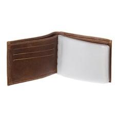 Carteira Masculina de Couro Marrom com Porta Moedas DH Couros 28601