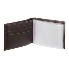 Carteira Masculina de Couro Marrom com Porta Moedas DH Couros 28602