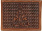 Carteira Masculina em Couro Bordado - Pyramid Country 18750