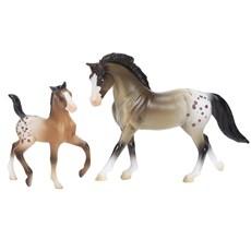 Cavalo e Potro Apaloosa Breyer Stablemates 20403
