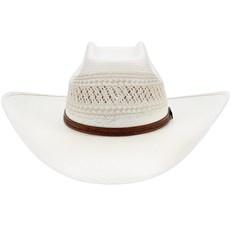 Chapéu 20X de Palha Ventildada Copa Quadrada Texas Diamond 21437