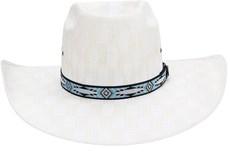 Chapéu Aba Larga Com Bandinha Azul Color Texas Diamond 21055