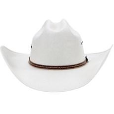 Chapéu Branco Bandinha de Couro Texas Diamond 21099
