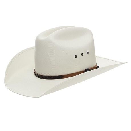 Chapéu Branco Com Bandinha Marrom Texas Diamond 24807