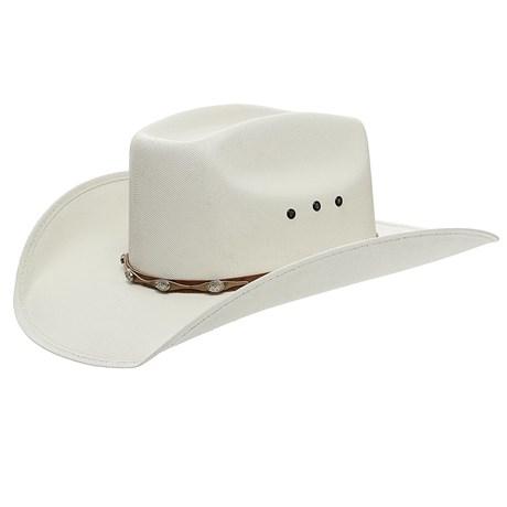 Chapéu Branco Copa Quadrada Bandinha com Apliques Texas Diamond 24813