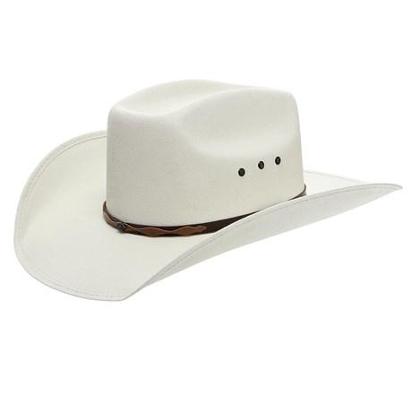 Chapéu Branco Copa Quadrada Bandinha Marrom Texas Diamond 24811