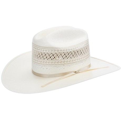 Chapéu Branco de Palha Shantung 20X Ventilada Texas Diamond 21424