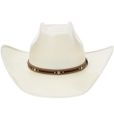 Chapéu Branco Palha 20X Texas Diamond Copa Quadrada 20869