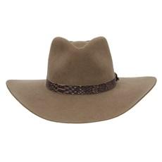 Chapéu Cavalgada de Feltro Castor Bandinha Acabamento Cobra Texas Diamond 28693