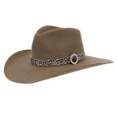 Chapéu Cavalgada de Feltro Castor com Bandinha Estampa Onça com Aplique Texas Diamond 28952