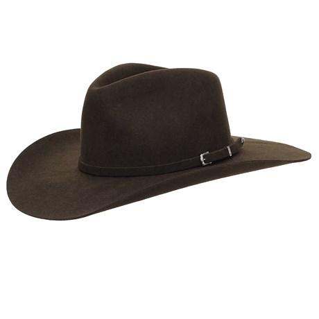 Chapéu Cavalgada de Feltro Marrom Texas Diamond 25256