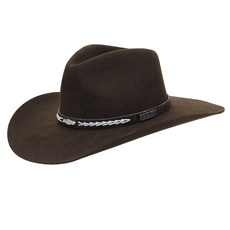Chapéu Cavalgada de Feltro Marrom Texas Diamond 25257