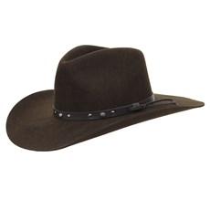 Chapéu Cavalgada de Feltro Marrom Texas Diamond 25260