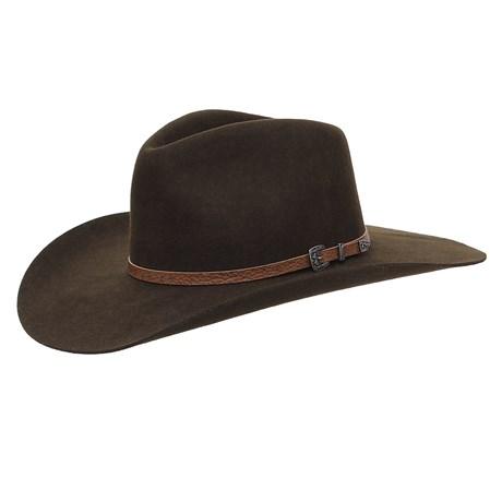 Chapéu Cavalgada de Feltro Marrom Texas Diamond 25262