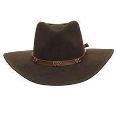 Chapéu Cavalgada de Feltro Marrom Texas Diamond 25263