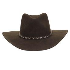 Chapéu Cavalgada de Feltro Marrom Texas Diamond 25264