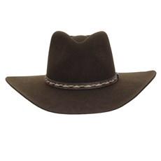 Chapéu Cavalgada de Feltro Marrom Texas Diamond 25265