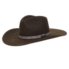 Chapéu Cavalgada de Feltro Marrom Texas Diamond 26279